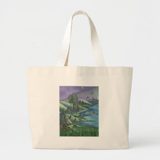 summer time in the valley tote bags