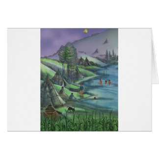 summer time in the valley greeting cards