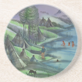 summer time in the valley beverage coaster