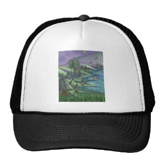 summer time in the valley mesh hat