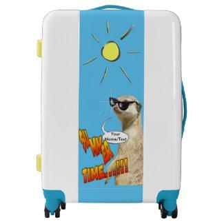 Summer Time Meerkat Cust. Luggage Suitcase