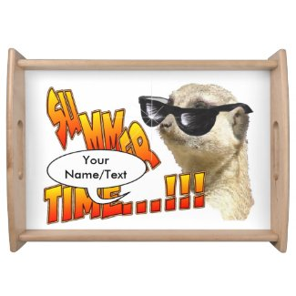 Summer Time Meerkat Customizable Serving Tray
