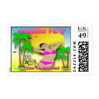 Summer Time Party Stamp
