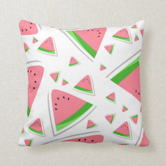 Summer Time Pink Watermelon Slice Throw Throw Pillow