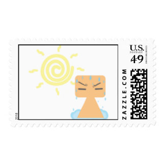 Summer time postage stamps