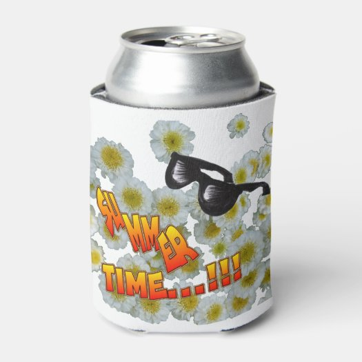 Summer Time Sunglasses Cust. Can Cooler