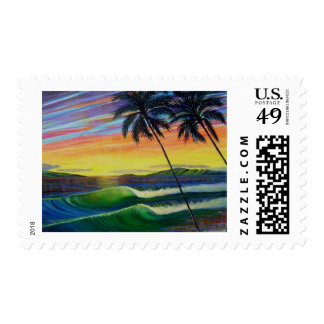 summer-time-sunset-west-mau postage stamps