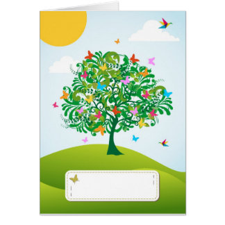 Summer time tree greeting card