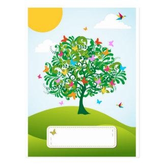 Summer time tree postcard