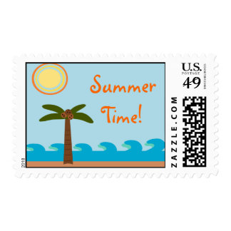 Summer Time Tropical Postage Stamps