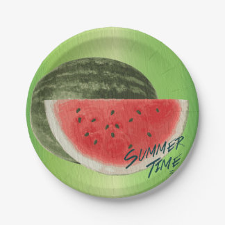 Summer time- watermelon paper plate
