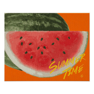 Summer time- watermelon poster