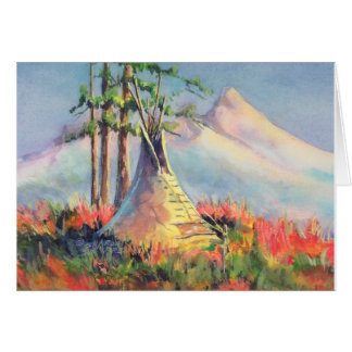 SUMMER TIPI CAMP by SHARON SHARPE Card