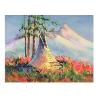 SUMMER TIPI CAMP  by SHARON SHARPE Postcard