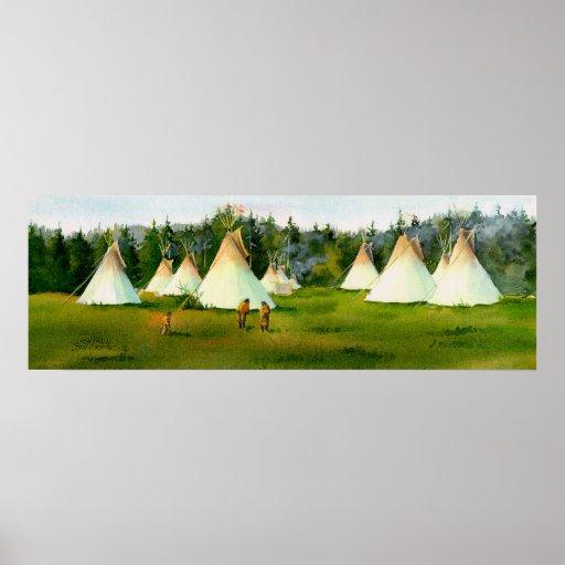 SUMMER TIPI CAMP by SHARON SHARPE Poster