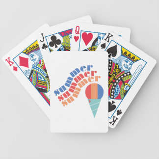 Summer Treat Bicycle Playing Cards