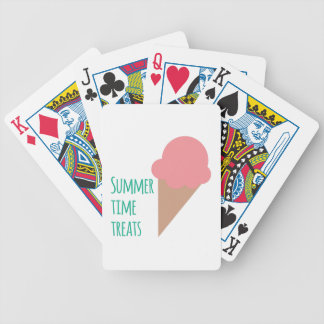 Summer Treats Bicycle Playing Cards