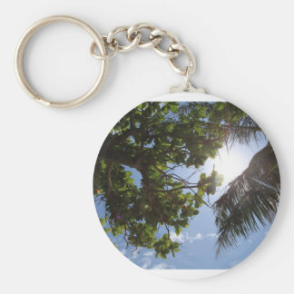 Summer Trees Basic Round Button Keychain