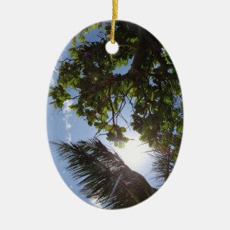 Summer Trees Ceramic Ornament