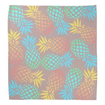 Beach Themed summer tropical colorful pineapple pattern bandana