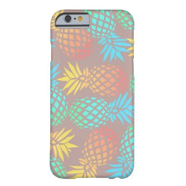 Beach Themed summer tropical colorful pineapple pattern barely there iPhone 6 case