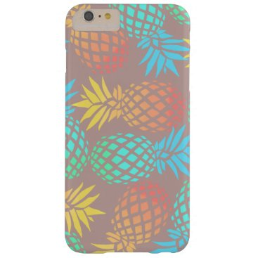 Beach Themed summer tropical colorful pineapple pattern barely there iPhone 6 plus case