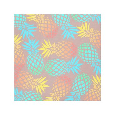 summer tropical colorful pineapple pattern canvas print