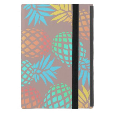Beach Themed summer tropical colorful pineapple pattern case for iPad mini