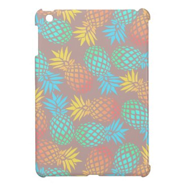 Beach Themed summer tropical colorful pineapple pattern case for the iPad mini