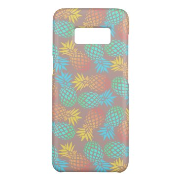 Beach Themed summer tropical colorful pineapple pattern Case-Mate samsung galaxy s8 case