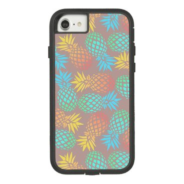 Beach Themed summer tropical colorful pineapple pattern Case-Mate tough extreme iPhone 7 case