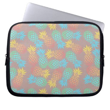 Beach Themed summer tropical colorful pineapple pattern computer sleeve