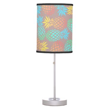Beach Themed summer tropical colorful pineapple pattern desk lamp