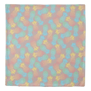 summer tropical colorful pineapple pattern duvet cover