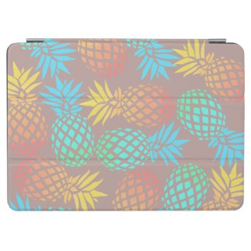 Beach Themed summer tropical colorful pineapple pattern iPad air cover
