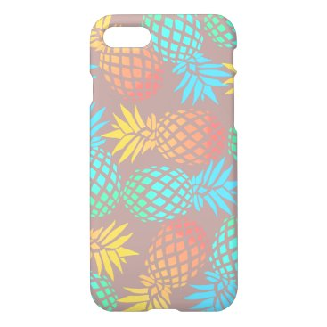 Beach Themed summer tropical colorful pineapple pattern iPhone 7 case