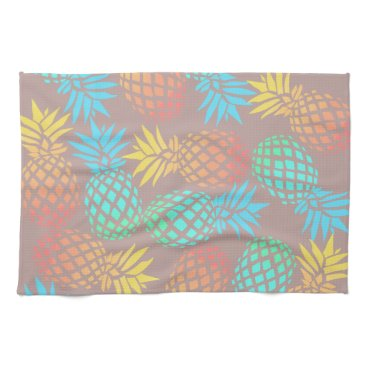 summer tropical colorful pineapple pattern kitchen towel