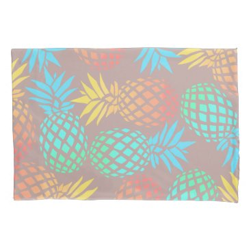 Beach Themed summer tropical colorful pineapple pattern pillow case