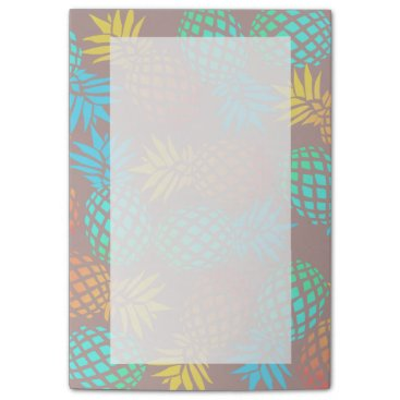 summer tropical colorful pineapple pattern post-it notes