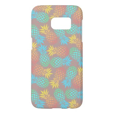Beach Themed summer tropical colorful pineapple pattern samsung galaxy s7 case
