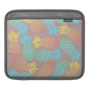 Beach Themed summer tropical colorful pineapple pattern sleeve for iPads