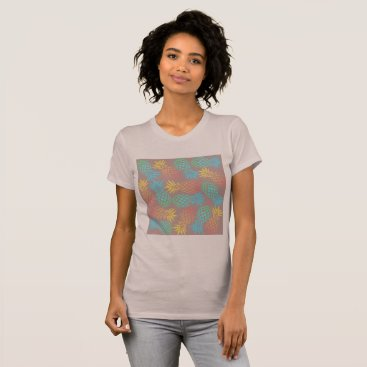 summer tropical colorful pineapple pattern T-Shirt