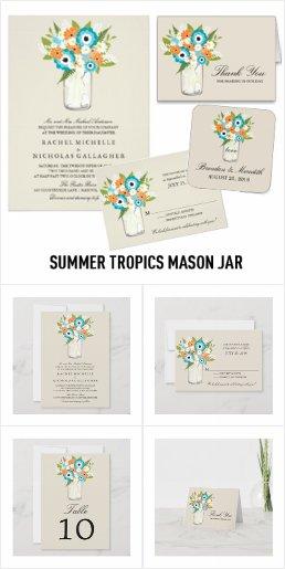 Summer Tropics Mason Jar