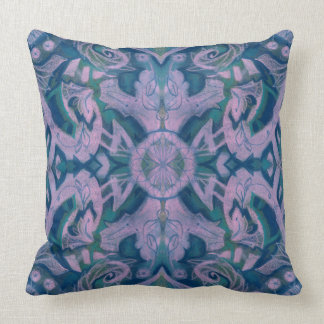 Summer Twilight abstract floral pattern blye lilac Throw Pillow