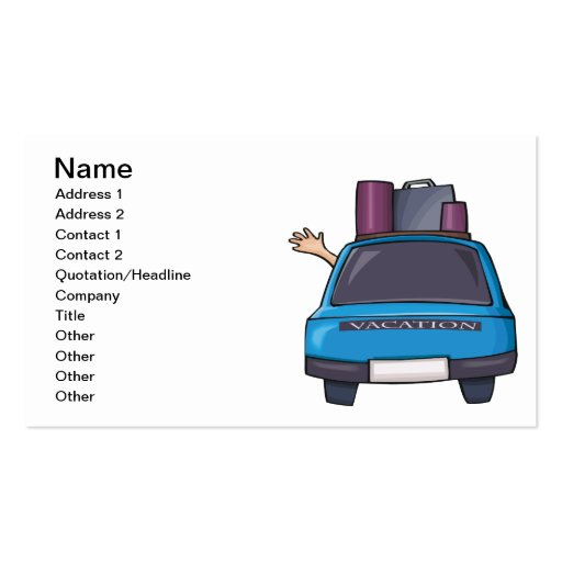 Summer Vacation 1 Double-Sided Standard Business Cards (Pack Of 100)