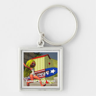 Summer Vacation at the Beach Keychain