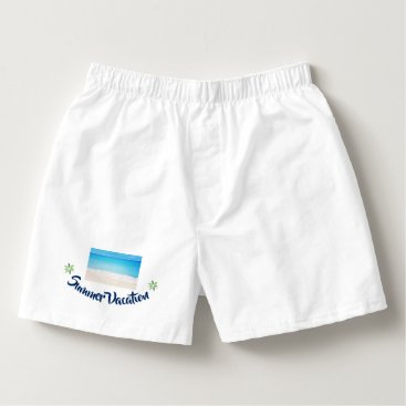 Beach Themed Summer Vacation Boxers