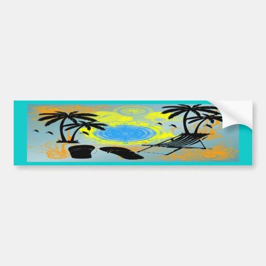 Summer Vacation Bumper Sticker