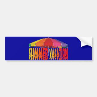 Summer Vacation Car Bumper Sticker
