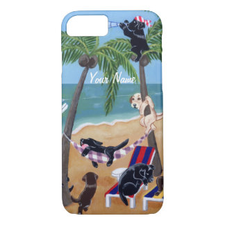 Summer Vacation Labradors Painting iPhone 7 Case